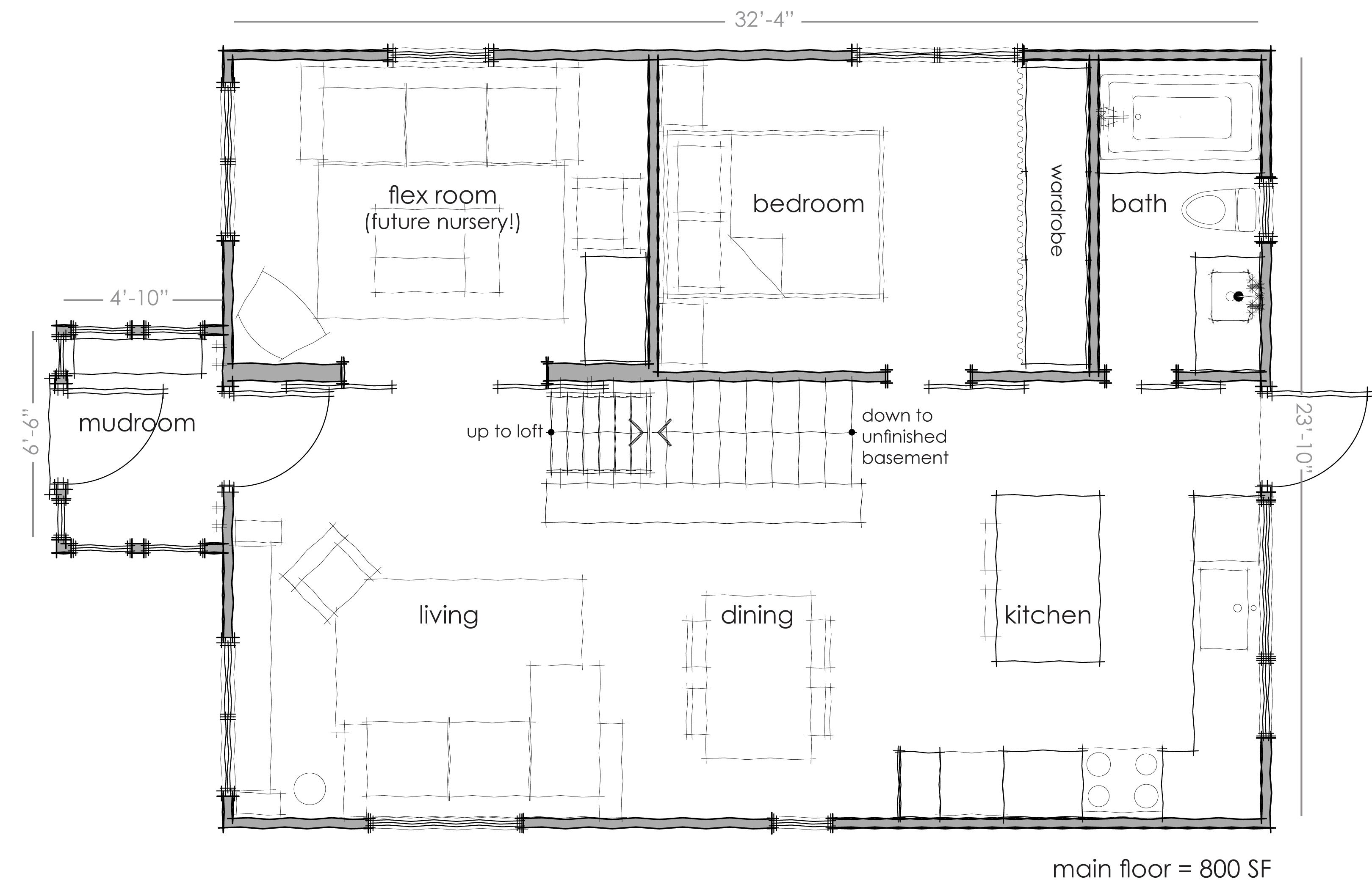 Rectangular Kitchen Floor Plans