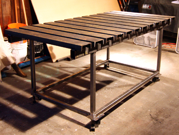 Pdf steel welding table plans diy free plans download for Table design for project